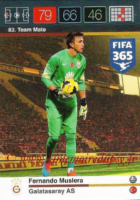 2015-16 - Panini Adrenalyn XL FIFA 365 - N° 083 - Fernando MUSLERA (Galatasaray AS) (Team Mate)