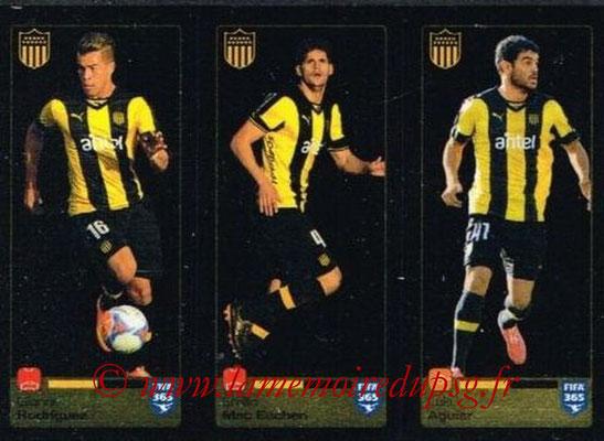 2015-16 - Panini FIFA 365 Stickers - N° 833-834-835 - Gianni RODRIGUEZ + Emilio MAC EACHEN + Luis AGUIAR (Penarol)