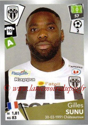 2017-18 - Panini Ligue 1 Stickers - N° 044 - Gilles SUNU (Angers)