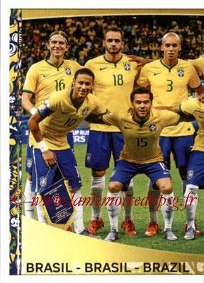Panini Copa America Centenario USA 2016 Stickers - N° 111 - Equipe Brésil 1