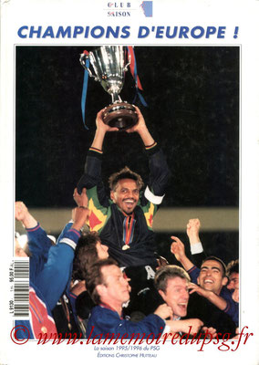 1996-06-xx - Un club, une saison Champions d'europe ! (Editions Christophe Hutteau, 130 pages)