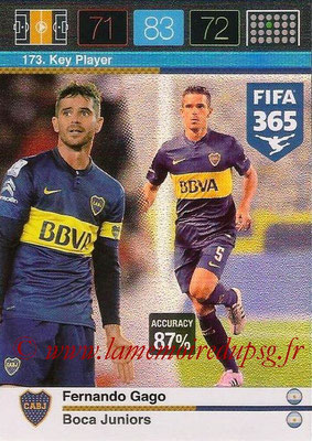2015-16 - Panini Adrenalyn XL FIFA 365 - N° 173 - Fernando GAGO (Boca Juniors) (Key Player)