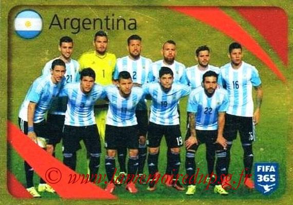 2015-16 - Panini FIFA 365 Stickers - N° 851 - Argentine (Brillante)