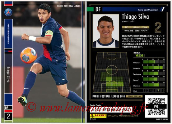 Panini Football League 2014 - PFL07 - N° 068 - Thiago SILVA (Paris Saint-Germain)