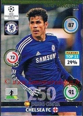 2014-15 - Adrenalyn XL champions League Update edition N° UE123 - Diego COSTA (Chelsea FC) (Fans' Favourite)