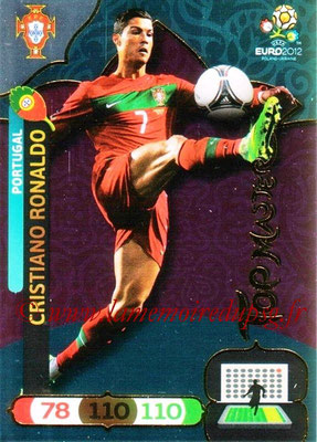 Panini Euro 2012 Cards Adrenalyn XL - N° 305 - Cristiano RONALDO (Portugal) (Top Master)