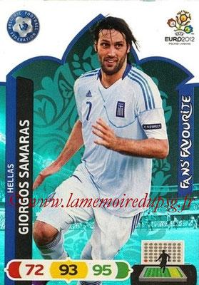 Panini Euro 2012 Cards Adrenalyn XL - N° 256 - Giorgos SAMARAS (Grèce) (Fans' Favourite)
