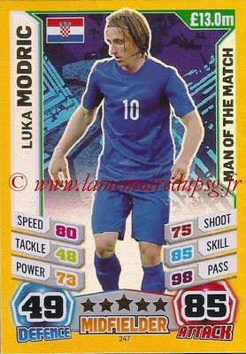 Topps Match Attax England 2014 - N° 247 - Luka MODRIC (Croatie) (Man Of The Match)