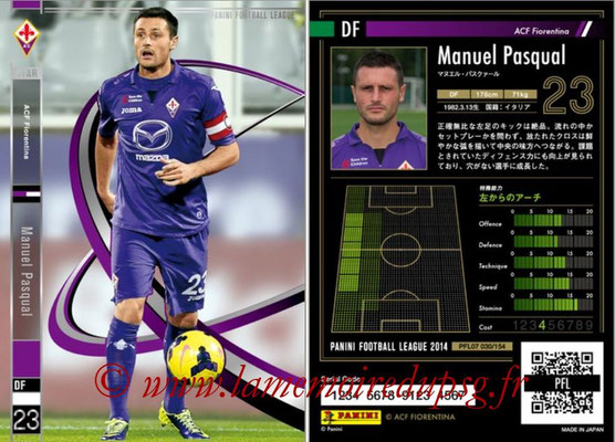 Panini Football League 2014 - PFL07 - N° 030 - Manuel PASQUAL (ACF Fiorentina) (Star)