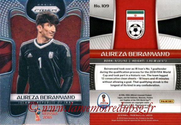 2018 - Panini Prizm FIFA World Cup Russia - N° 109 - Alireza BEIRANVAND (Iran)