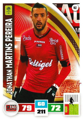 2016-17 - Panini Adrenalyn XL Ligue 1 - N° 092 - Jonathan MARTINS PEREIRA (Guingamp)