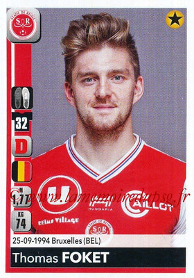 2018-19 - Panini Ligue 1 Stickers - N° 381 - Thomas FOKET (Reims)