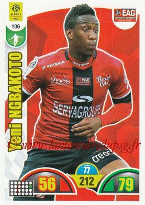 2018-19 - Panini Adrenalyn XL Ligue 1 - N° 106 - Yeni NGBAKOTO (Guingamp)