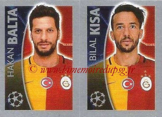 2015-16 - Topps UEFA Champions League Stickers - N° 204 - Hakan BALTA + Bilal KISA (Galatasaray AS)