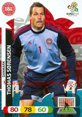 Panini Euro 2012 Cards Adrenalyn XL - N° 013 - Thomas SORENSEN (Danemark)