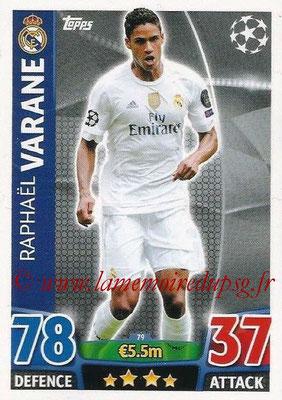 2015-16 - Topps UEFA Champions League Match Attax - N° 079 - Raphaël VARANE (Real Madrid CF)