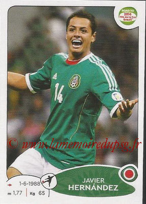 2014 - Panini Road to FIFA World Cup Brazil Stickers - N° 254 - Javier HERNANDEZ (Mexique)