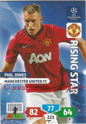 2013-14 - Adrenalyn XL champions League N° 175 - Phil JONES (Manchester United FC) (Rising Star)