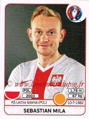 Panini Euro 2016 Stickers - N° 307 - Sebastian MILA (Pologne)