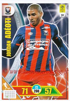 2017-18 - Panini Adrenalyn XL Ligue 1 - N° 059 - Jordan ADEOTI (Caen)