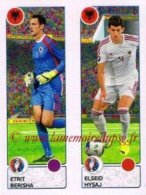 Panini Euro 2016 Stickers - N° 090 - Etrit BERISHA + Elseid HYSAJ (Albanie)