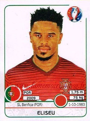 Panini Euro 2016 Stickers - N° 581 - ELISEU (Portugal)