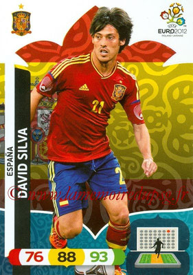 Panini Euro 2012 Cards Adrenalyn XL - N° 071 - David SILVA (Espagne)