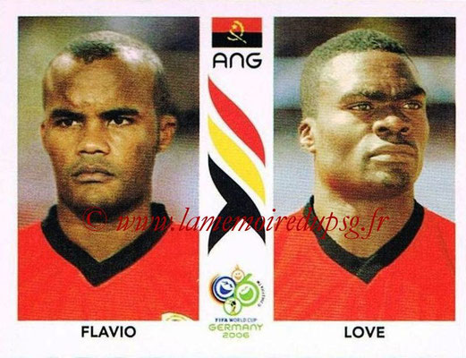 2006 - Panini FIFA World Cup Germany Stickers - N° 309 - FLAVIO + LOVE (Angola)