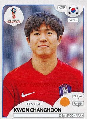 2018 - Panini FIFA World Cup Russia Stickers - N° 501 - Kwon CHANGHOON (Corée du Sud)
