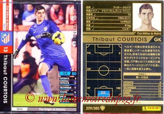 2013-14 - WCCF - N° 209 - Thibaut COURTOIS (Atletico Madrid)
