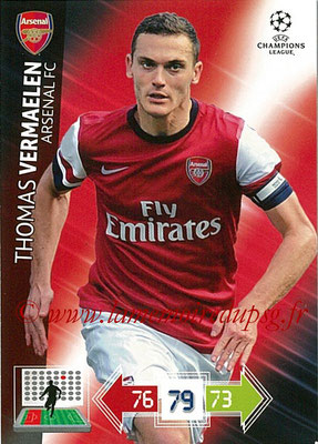 2012-13 - Adrenalyn XL champions League N° 015 - Laurent VERMAELEN (Arsenal FC)