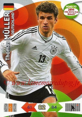2014 - Panini Road to FIFA World Cup Brazil Adrenalyn XL - N° 056 - Thomas MULLER (Allemagne)