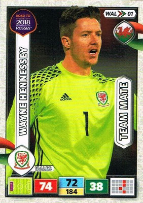 2018 - Panini Road to FIFA World Cup Russia Adrenalyn XL - N° WAL01 - Wayne HENNESSEY (Pays de Galles)