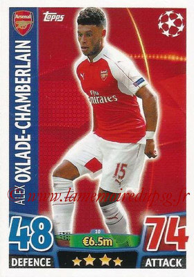 2015-16 - Topps UEFA Champions League Match Attax - N° 010 - Alex OXLADE-CHAMBERLAIN (Arsenal FC)