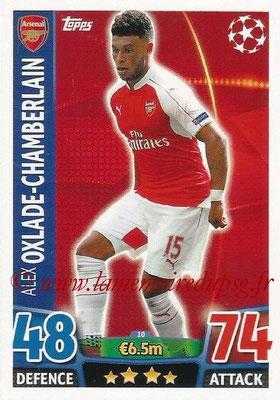 2015-16 - Topps UEFA Champions League Match Attax - N° 010 - Alex OXLADE-CHAMBERLAIN (Arsenal FC)