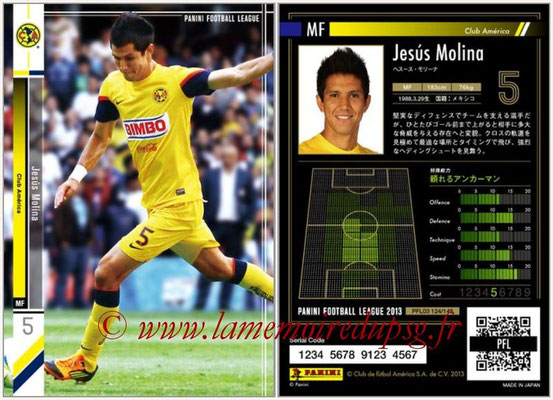 Panini Football League 2013 - PFL03 - N° 124 - Jesus Molina (Club America)
