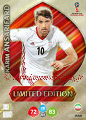 2018 - Panini FIFA World Cup Russia Adrenalyn XL - N° LE-KA - Karim ANSARIFARD (Iran) (Limited Edition)