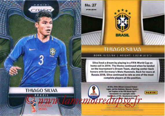 2018 - Panini Prizm FIFA World Cup Russia - N° 027 - Thiago SILVA (Bresil)