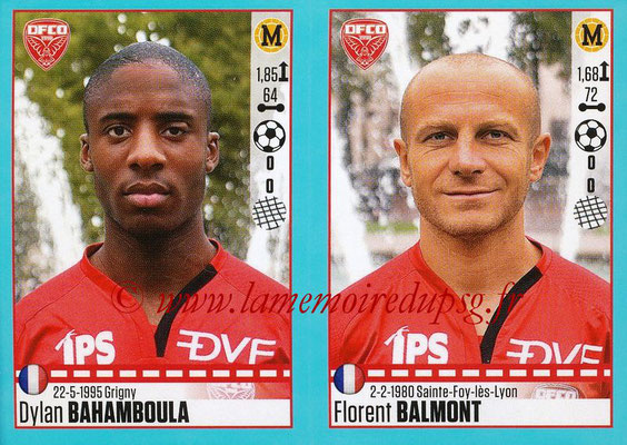2016-17 - Panini Ligue 1 Stickers - N° 200 + 201 - Dylan BAHAMBOULA + Florent BALMONT (Dijon)