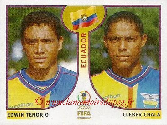 2002 - Panini FIFA World Cup Stickers - N° 517 - Edwin TENORIO + Clerber CHALA (Equateur)