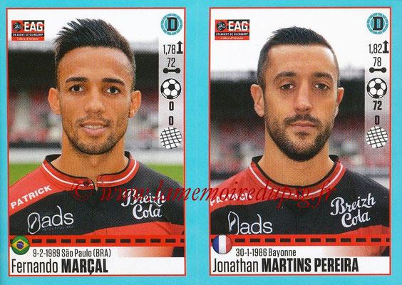 2016-17 - Panini Ligue 1 Stickers - N° 236 + 237 - Fernando MARCAL + Jonathan Martins PEREIRA (Guingamp)