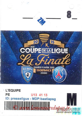 Badge Presse  Bastia-PSG  2014-15