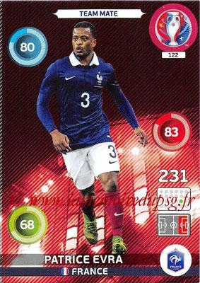 Panini Euro 2016 Cards - N° 122 - Patrice EVRA (France)