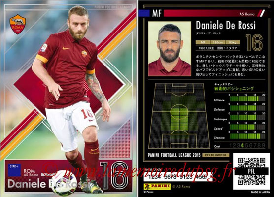 Panini Football League 2015 - PFL10 - N° 021- Daniele DE ROSSI (AS Roma) (Star +)