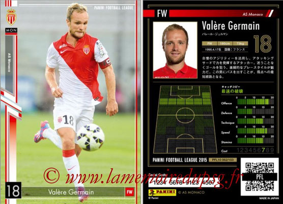 Panini Football League 2015 - PFL10 - N° 062 - Valère GERMAIN (AS Monaco)