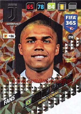 2017-18 - Panini FIFA 365 Cards - N° 210 - Douglas COSTA (Juventus) (Impact Signing)