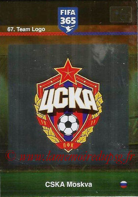 2015-16 - Panini Adrenalyn XL FIFA 365 - N° 067 - Ecusson CSKA Moscou (Team Logo)