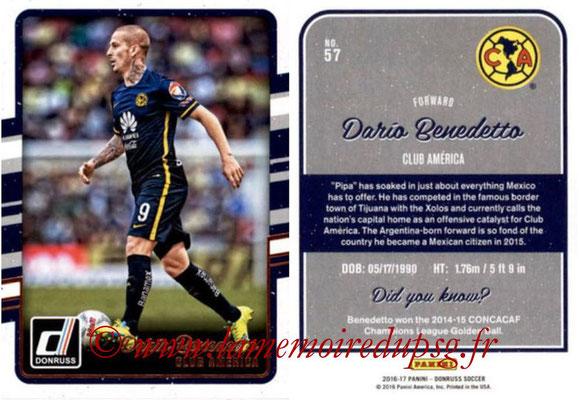 2016 - Panini Donruss Cards - N° 057 - Dario BENEDETTO (Club América)