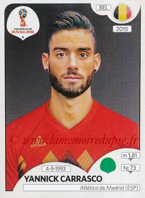 2018 - Panini FIFA World Cup Russia Stickers - N° 528 - Yannick CARRASCO (Belgique)