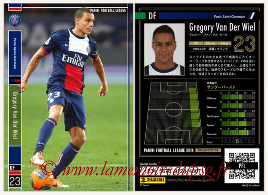 Panini Football League 2014 - PFL08 - N° 070 - Gregory VAN DER WIEL (Paris Saint-Germain)